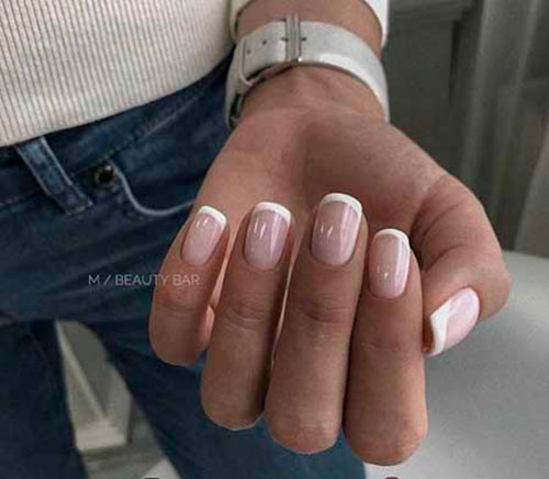 Triangle French Manicure