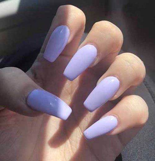 Champagne Color Acrylic Nails