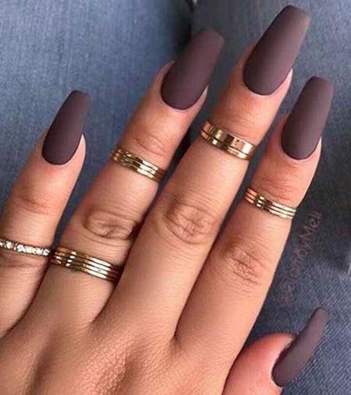 Color Block Acrylic Nails