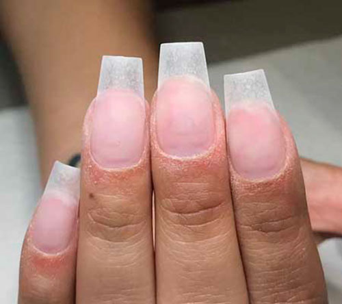 Square Cut Acrylic Nails
