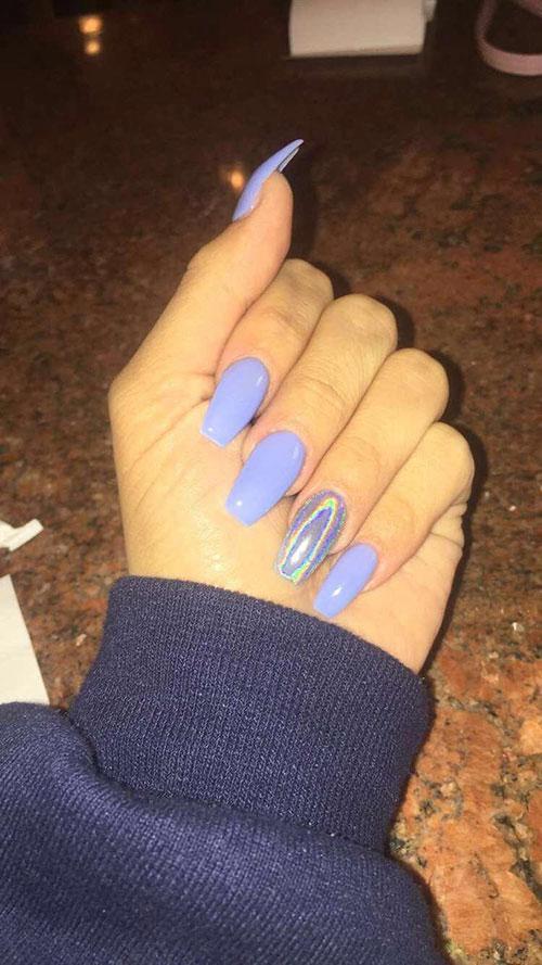 Basic Color Acrylic Nails