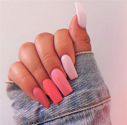 Wine Color Acrylic Nails