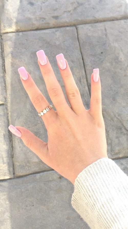 Skinny Square Acrylic Nails
