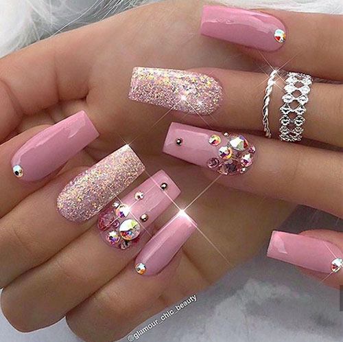 Thick Square Acrylic Nails
