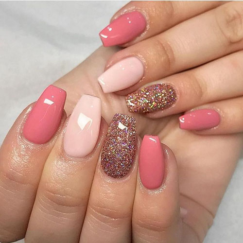 Acrylic Nails One Color