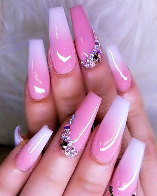 Mexican Nails With Diamonds