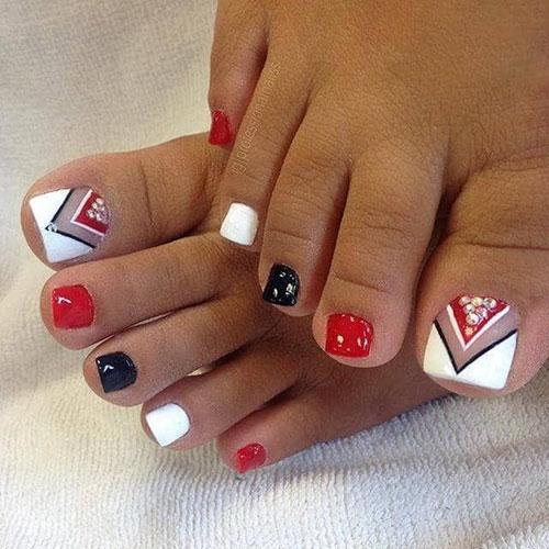 Floral Toe Nail Designs