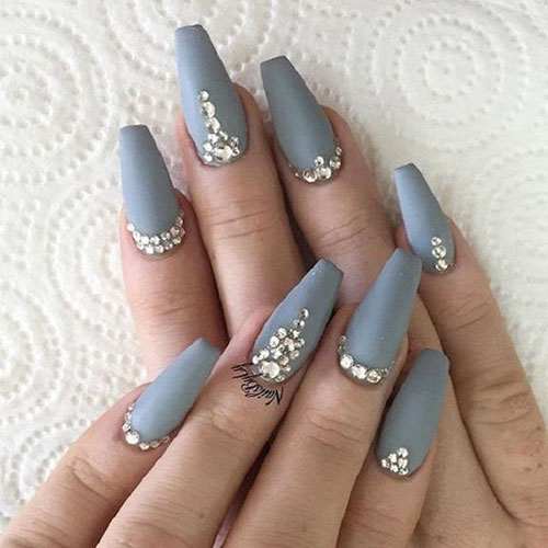 Pictures Of Nails With Diamonds