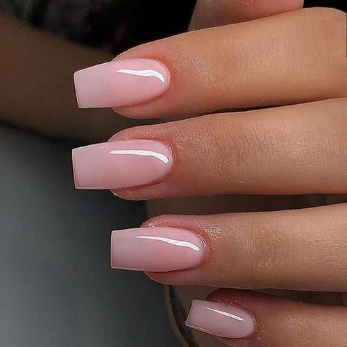 Wide Square Acrylic Nails