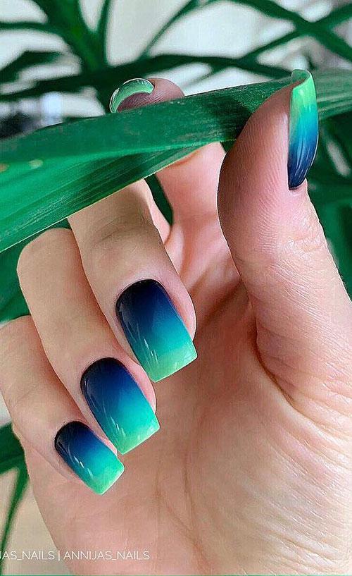 Multicolor Ombre Nails