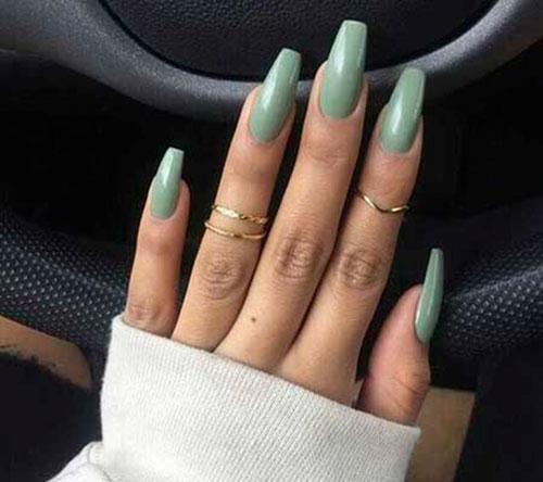 Single Color Acrylic Nails