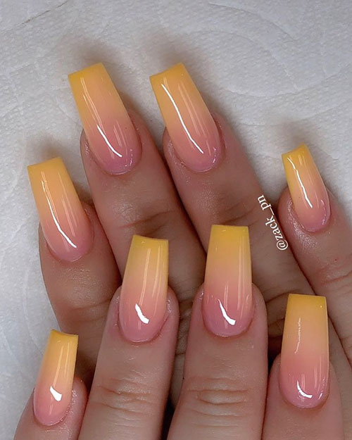 Thanksgiving Ombre Nails
