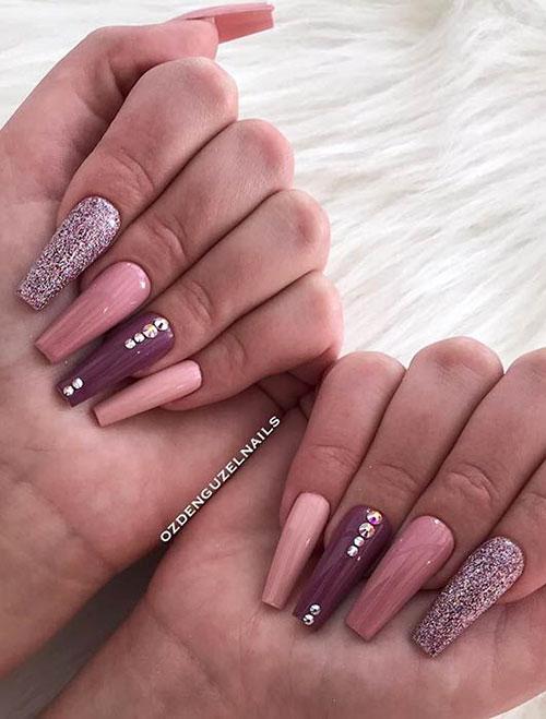 Long Ballerina Acrylic Nails