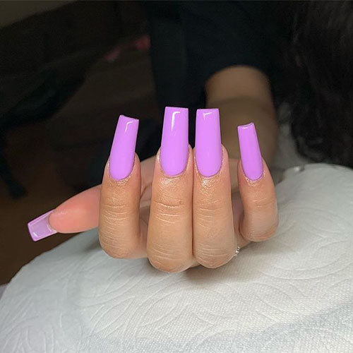 Long Skinny Square Nails