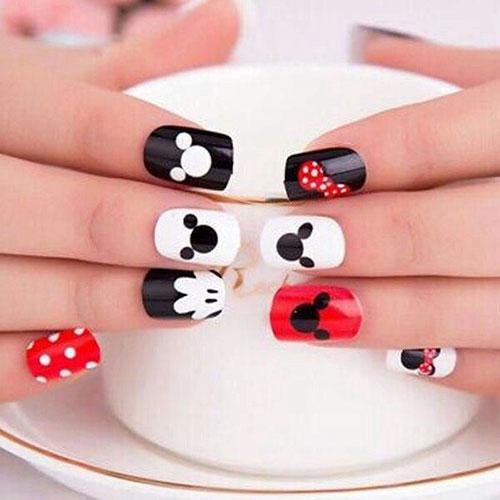 Mickey Inspired Nails