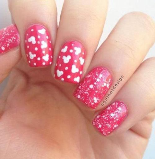 Mickey Head Nails