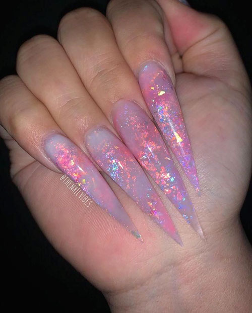 Squoval Acrylic Nails Long
