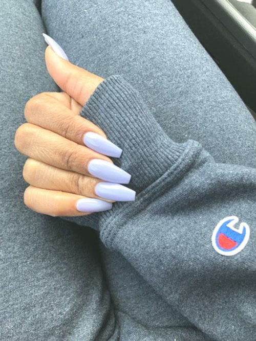 French Tip On Coffin Nails
