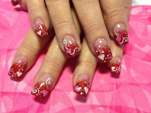 Anti Valentine'S Day Nail Designs