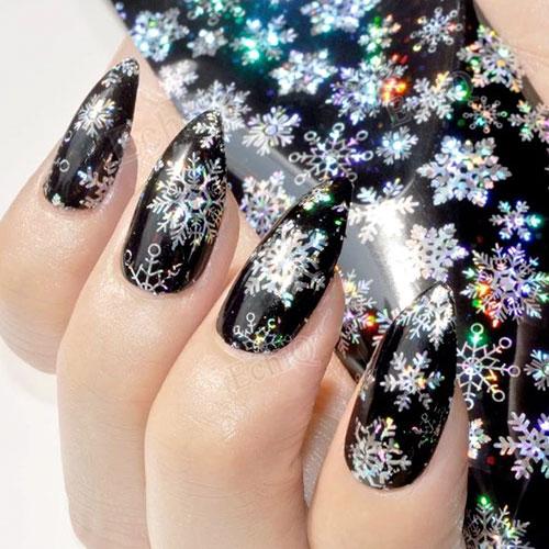 Snowflake Nail Art