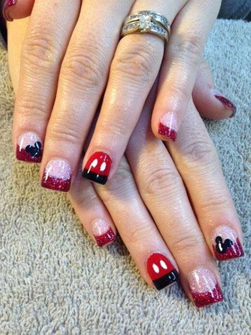 Mickey Minnie Nails