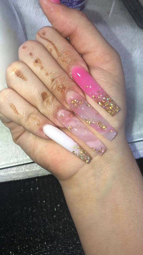 Very Long Acrylic Nails
